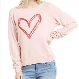 Wildfox Sketchy Heart Silver Pink Lounge Set ❤️